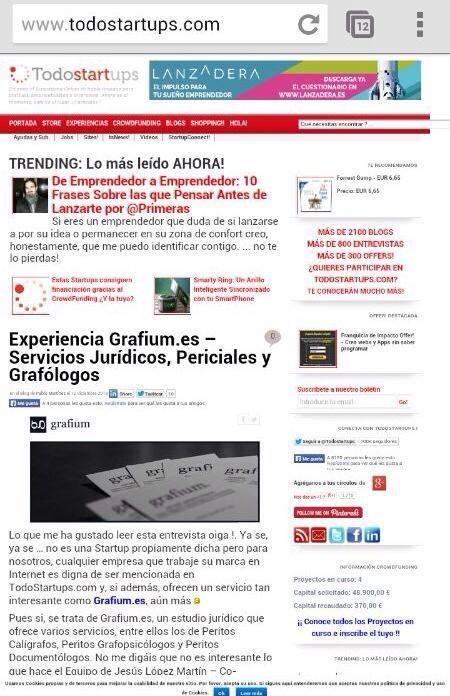 Entrevista de GRAFIUM en Todostartups