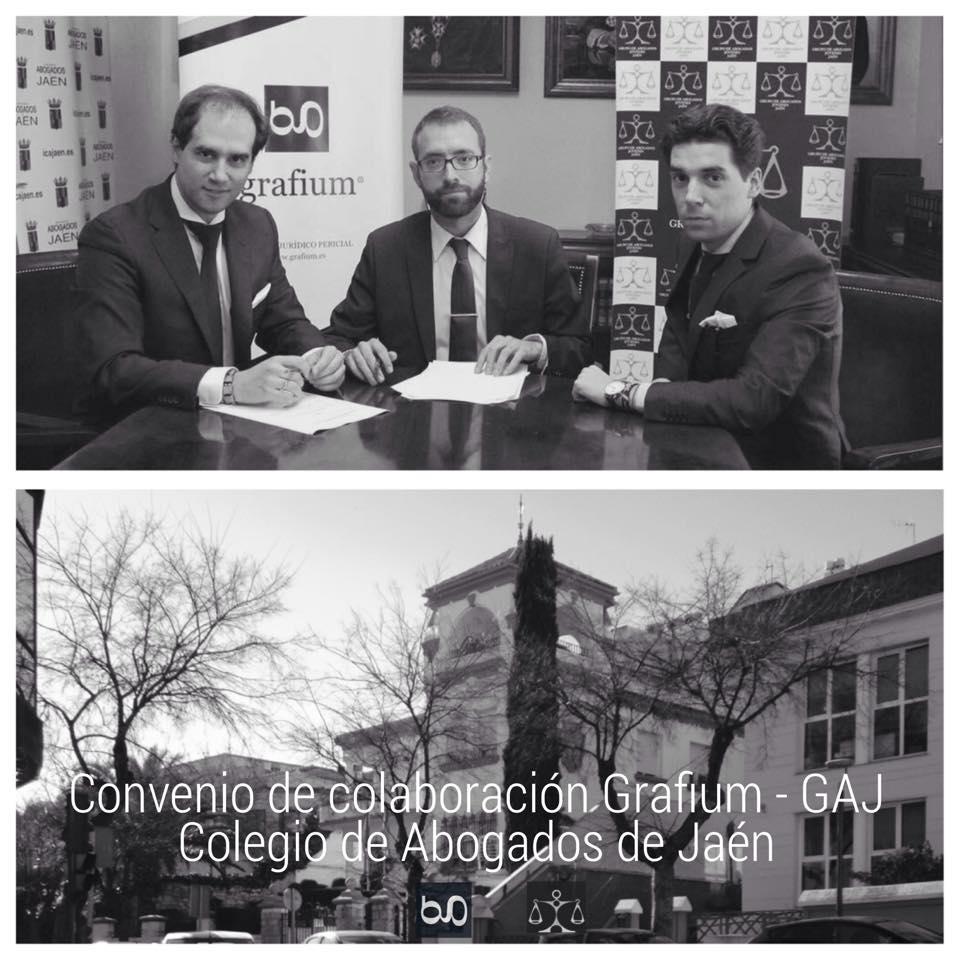 Convenio de Colaboración GRAFIUM - GRUPO DE ABOGADOS JÓVENES ILUSTRE COLEGIO DE ABOGADOS DE JAÉN